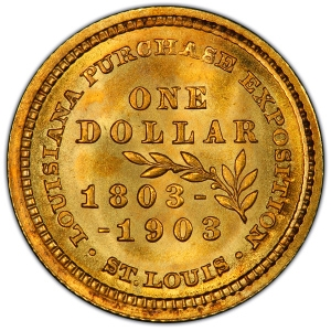 Reverse of 1903 Louisana Purchase Gold Dollar