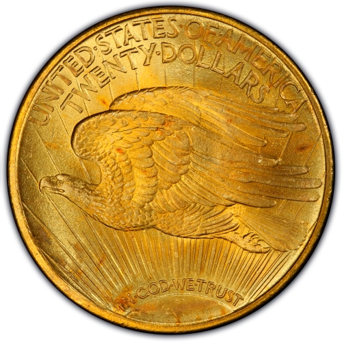 Reverse of 1921 Saint Gaudens Double Eagle